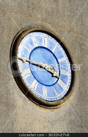 Roman style church clock stock photo, Roman style church clock by pauws99