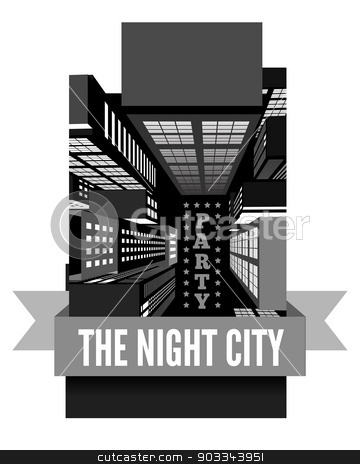 Night in the city. Top view stock photo, Night in the city. Top view vector illustration by sermax55