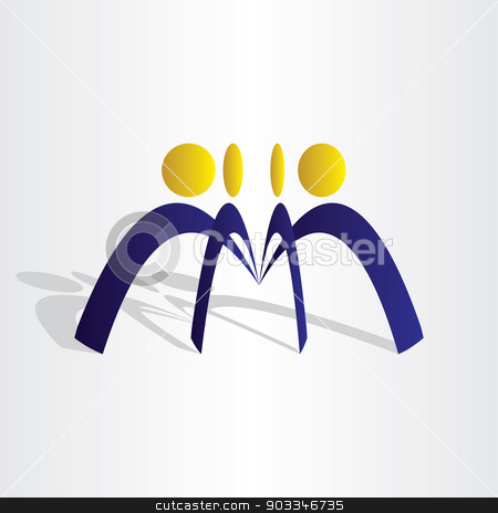 business people team work stock vector clipart, business people team work icon abstract design by blaskorizov
