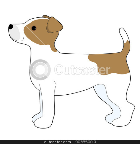 Jack Russell Terrier stock vector clipart, A cartoon illustration of a Jack Russell Terrier by Maria Bell