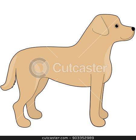 Labrador Retriever stock vector clipart, A cartoon illustration of a Labrador Retriever by Maria Bell