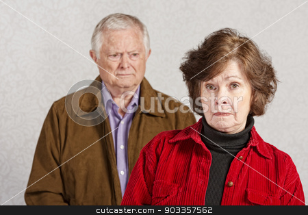 Unhappy Couple stock photo, Unhappy European male and female senior couple by Scott Griessel