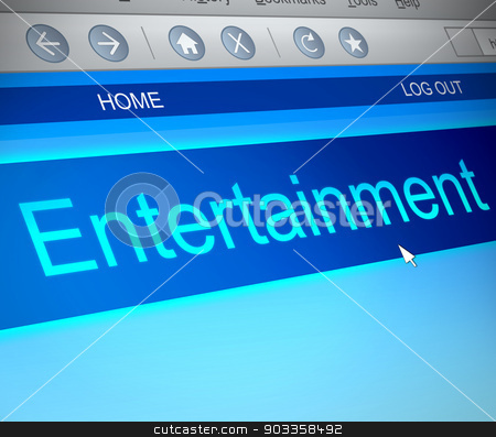 Entertainment concept. stock photo, Illustration depicting a computer screen capture with an entertainment concept. by Samantha Craddock