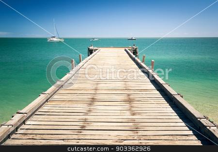 wooden jetty at Monkey Mia Australia stock photo, An image of the wooden jetty at Monkey Mia Australia by Markus Gann