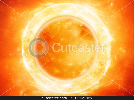 the sun stock photo, The sun in space. by Designsstock