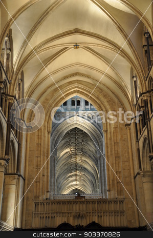 Canterbury Cathedral in England stock photo, Interior of the Canterbury Cathedral in England by Ritu Jethani