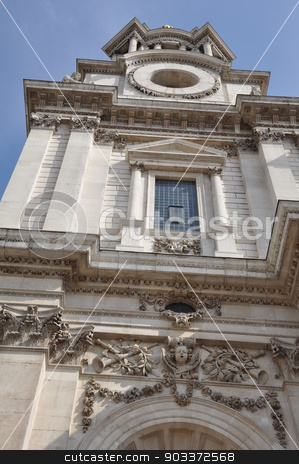 St Paul's Cathedral in London stock photo, St Paul's Cathedral in London, England by Ritu Jethani