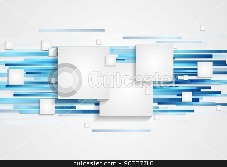 Abstract tech geometry background stock vector clipart, Abstract tech vector geometry background by saicle