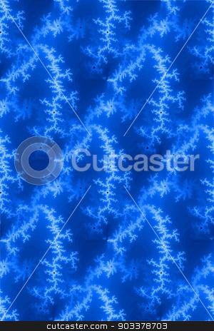 Seamless Fractal Blue stock photo, A seamless fractal background in the color of blue. by Henrik Lehnerer