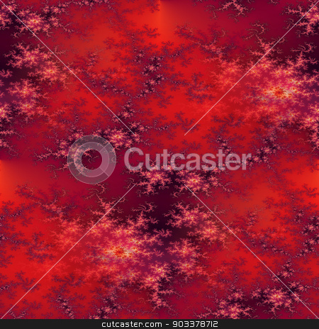 Seamless Fractal Red stock photo, A seamless fractal background in the color of red. by Henrik Lehnerer