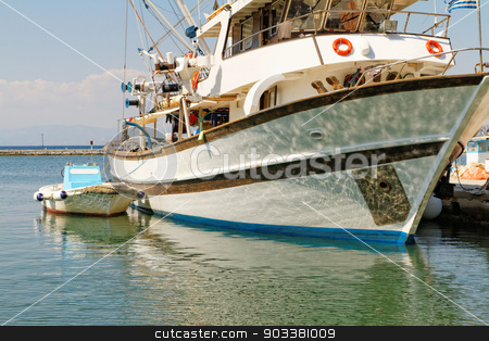 Boat harbour stock photo, Photo of a big boat harbour in Greece  by Nneirda