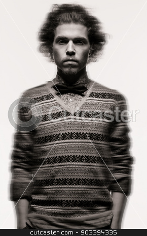 calm and serious man in fashionable clothes stock photo, portrait of calm and serious man in fashionable clothes by Syda Productions
