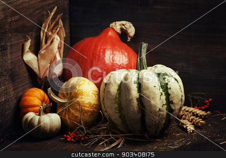 Autumn composition stock photo, Autumn composition  in wooden box by klenova
