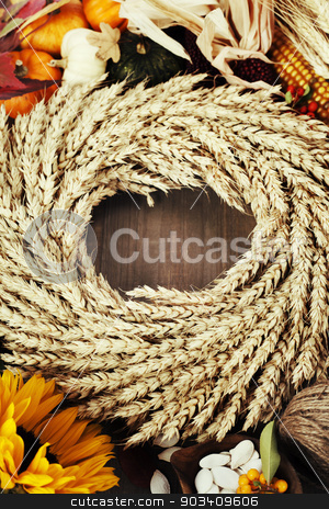 Autumn frame stock photo, Autumn frame. Thanksgiving day, harvesting  or autumn concept by klenova