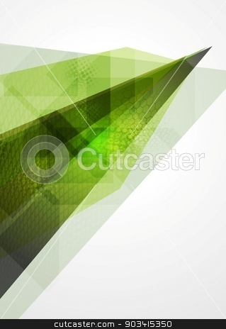 Technology geometry abstract background stock vector clipart, Technology geometry abstract green background by saicle
