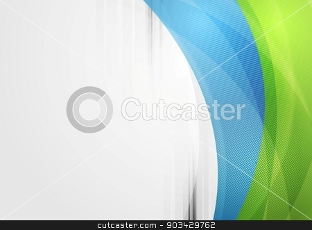 Abstract vibrant tech waves background stock vector clipart, Abstract vibrant tech waves vector background by saicle