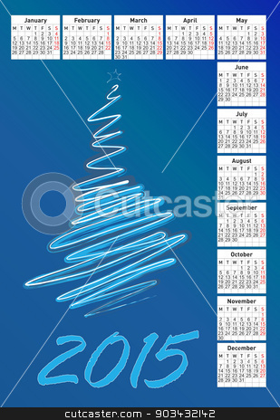 2015 calendar stock photo, 2015 new calendar vector illustration by olinchuk