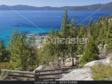 Beautiful Shoreline of Lake Tahoe stock photo, Beautiful Clear Water Shoreline of Lake Tahoe. by Andy Dean