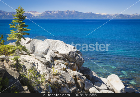 Beautiful Shoreline of Lake Tahoe stock photo, Beautiful Clear Water Shoreline of Lake Tahoe. by Andy Dean