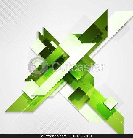 Shiny technical green background stock vector clipart, Shiny technical green background. Vector design by saicle