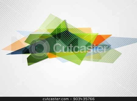 Abstract vibrant geometry shape stock vector clipart, Abstract vibrant geometry shape. Vector design by saicle