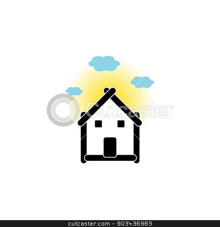 Real estate house stock vector clipart, Real estate house by DoReMe