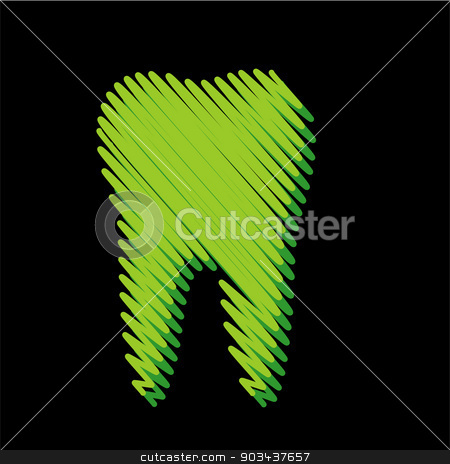 Tooth graphic for dentist stock vector clipart, Tooth graphic for dentist by DoReMe