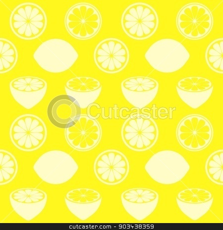 Seamless pattern stock vector clipart, Seamless vector yellow pattern with various lemon symbols by blumer