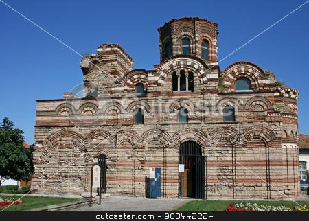 Ancient church in Nessebar, Bulgaria stock photo, The Christ Pantokrator Church in Nessebar, Bulgaria by Minka Ruskova-Stefanova