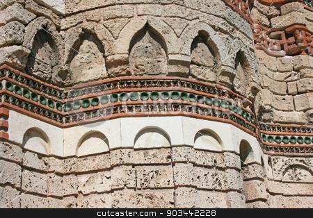 The wall of Ancient church in Nessebar, Bulgaria stock photo, The Christ Pantokrator Church in Nessebar, Bulgaria by Minka Ruskova-Stefanova