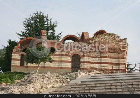 Ancient church in Nessebar, Bulgaria stock photo, Ancient church in Nessebar, Bulgaria by Minka Ruskova-Stefanova