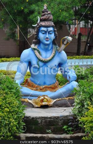 Statue of Hindu Lord Krishna stock photo, Statue of Hindu Lord Krishna at Shree Swaminarayan Gurukul in Hyderabad, India by Ritu Jethani
