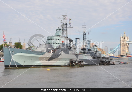 HMS Belfast in London stock photo, HMS Belfast in London, England by Ritu Jethani