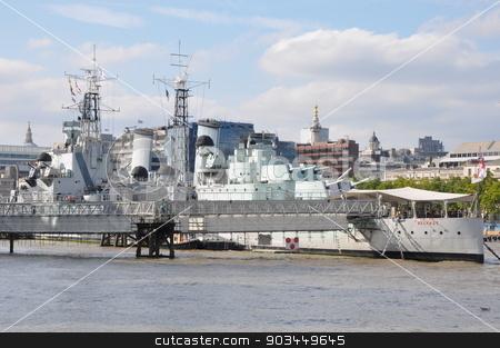 HMS Belfast in London stock photo, HMS Belfast in London, England by Ritu Jethani