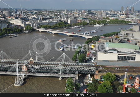 Millennium Bridge in London stock photo, Millennium Bridge in London, UK by Ritu Jethani