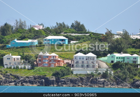 Colorful Houses in Bermuda stock photo, Colorful Houses in Bermuda by Ritu Jethani