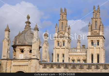 All Souls College at Oxford University, England stock photo, All Souls College at Oxford University, England by Ritu Jethani
