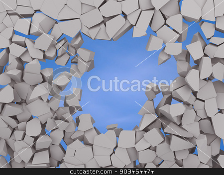 Cracked earth abstract background on blue sky stock photo, image of Cracked earth abstract background on blue sky 3d illustration by nicolas menijes