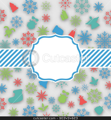 New Year greeting card with copy space for yout text stock vector clipart, Illustration New Year greeting card with copy space for yout text - vector by -=Mad Dog=-