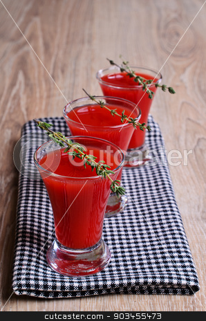 Cocktail red stock photo, Cocktail red wine glasses standing on a napkin, with branches by zia_shusha