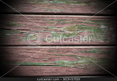 old weathered painted plank stock photo, old weathered painted plank, green and brown colors by coroiu octavian
