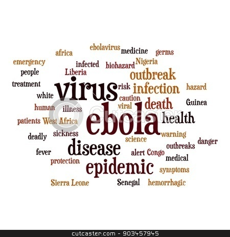 EBOLA stock photo, Ebola virus word cloud on white background. by Henrik Lehnerer