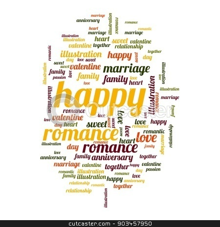Happy stock photo, Happy word and tag cloud on white background. by Henrik Lehnerer