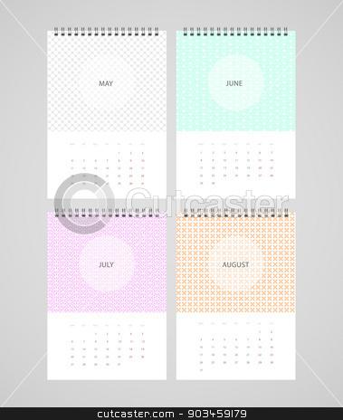 Calendar for 2015 stock vector clipart, Vector illustration (eps 10) of Calendar for 2015 by SonneOn