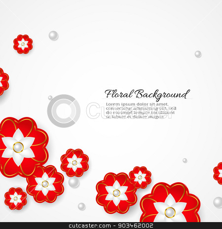 White floral 3d background stock vector clipart, White floral 3d background. Vector. by Dmitry