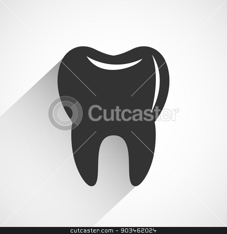 Healthy tooth icon vector stock vector clipart, Healthy tooth icon vector illustration. by Dmitry