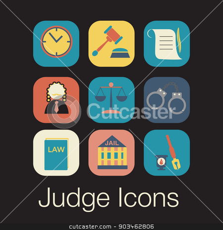 law judge icon set, justice sign stock vector clipart, law judge icon set, justice sign by LittleCuckoo