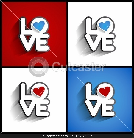 Love stock vector clipart, Love, Valentines Day Design On Background vector illustration by nicousnake