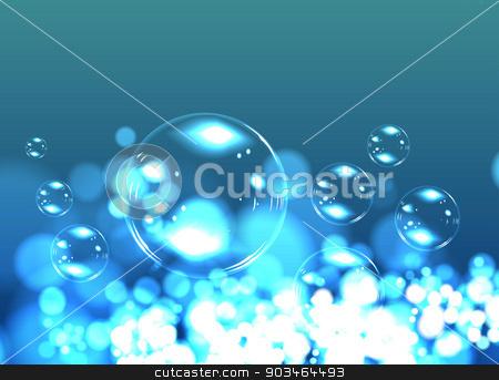 Bubble soap background stock photo, Bubble soap background. Blue nature vector illustration by sermax55