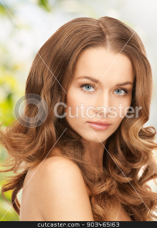 beautiful woman with long hair stock photo, bright picture of beautiful woman with long hair by Syda Productions